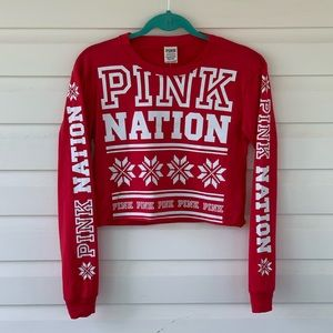 Victoria's Secret PINK Nation Snowflake Crop